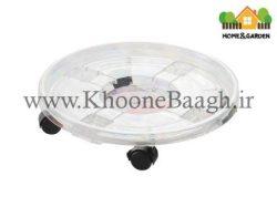 زیر گلدانی چرخ دار مدل دایره
